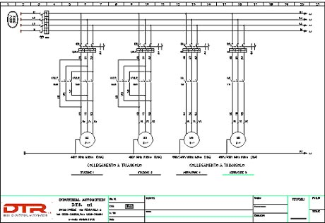 Schema elettrico gruppo elettrogeno trifase